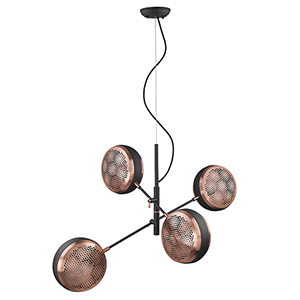 Tholos Matte Black Four-Light Pendant