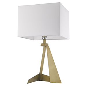 Stratos Aged Brass One-Light Table Lamp