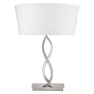 Trend Home Satin Nickel One-Light Table Lamp