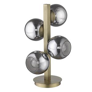 Lunette Aged Brass Four-Light Table Lamp