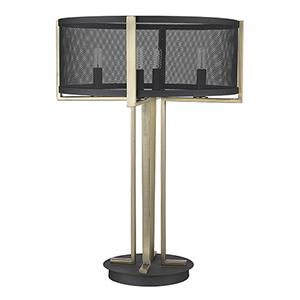 Trend Home Matte Black Four-Light Table Lamp