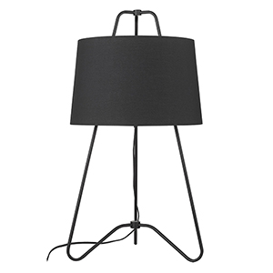 Lamia Matte Black One-Light Table Lamp