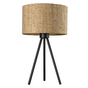 Lisbon Matte Black One-Light Table Lamp