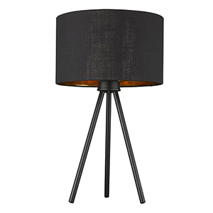Morenci Matte Black One-Light Table Lamp