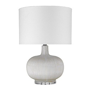 Trend Home Polished Nickel 15-Inch One-Light Table Lamp
