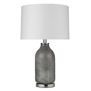 Trend Home Polished Nickel One-Light Table Lamp