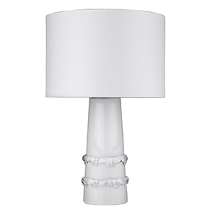 Trend Home White 17-Inch One-Light Table Lamp