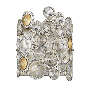 Vitozzi Antique Silver Leaf One-Light Wall Sconce