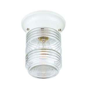 Builders Choice White One-Light Ceiling Fixture