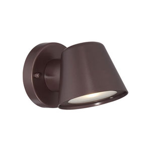 Architectural Bronze 4.5-Inch One-Light LED Outdoor Wall Mount with Clear Glass