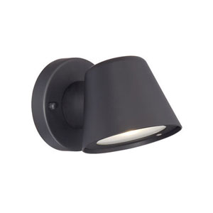 Matte Black 4.5-Inch One-Light LED Outdoor Wall Mount with Clear Glass
