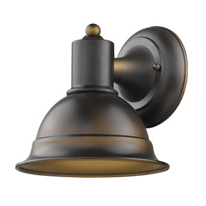 Colton Oil Rubbed Bronze 8-Inch One-Light Outdoor Wall Mount