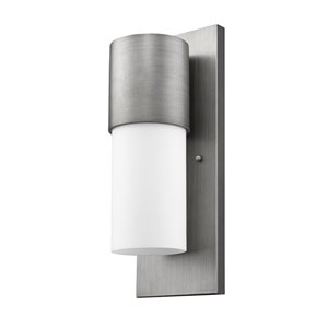 Cooper Matte Nickel 6-Inch One-Light Outdoor Wall Mount