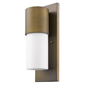 Cooper Raw Brass 6-Inch One-Light Outdoor Wall Mount