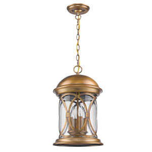 Lincoln Antique Brass 19-Inch Four-Light Outdoor Wall Mount