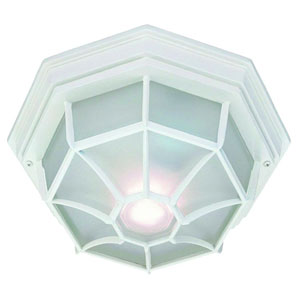 Textured White Flushmounts Two-Light Ceiling Fixture