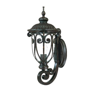 Naples Marbleized Mahogany One-Light 18-Inch Outdoor Wall Mount