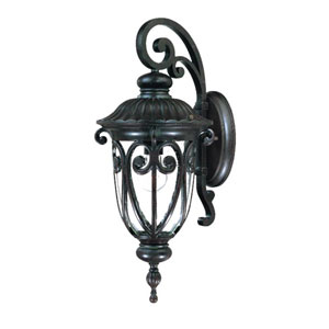 Naples Marbleized Mahogany One-Light 22.75-Inch Outdoor Wall Mount