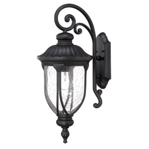 Laurens Matte Black Outdoor Wall Lantern