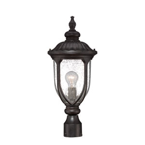 Laurens Black Coral Outdoor Post Lantern