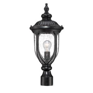 Laurens Matte Black Outdoor Post Lantern