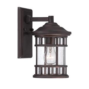 New Vista Architectural Bronze One Light Wall Lantern Fixture