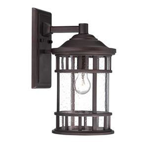 New Vista Architectural Bronze 12.13-inch One Light Wall Lantern Fixture
