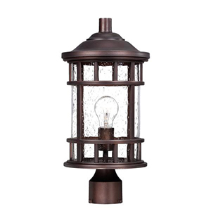 New Vista Architectural Bronze One Light Post Lantern Fixture