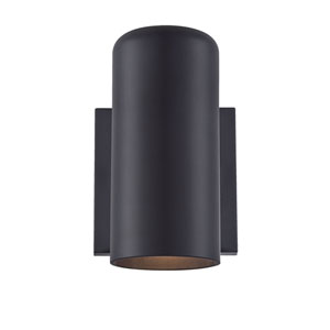 Matte Black Four-Inch One-Light Outdoor Wall Mount