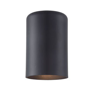Matte Black Six-Inch One-Light Outdoor Wall Mount