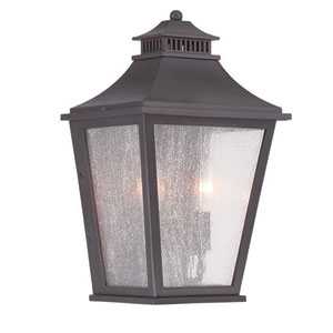 Chapel Hill Oil Rubbed Bronze 14-Inch Two-Light Outdoor Wall Mount