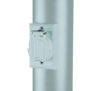 Gloss White  Lamp Post Electrical Outlet