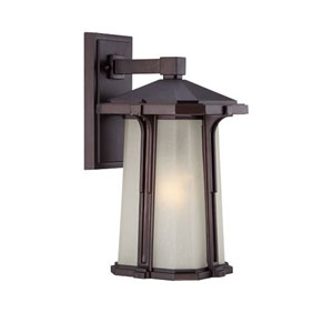 Illuma Architectural Bronze 7.5-Inch One-Light Outdoor Wall Mount