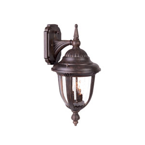 Monterey Black Coral Three-Light 20.5-Inch Outdoor Wall Mount