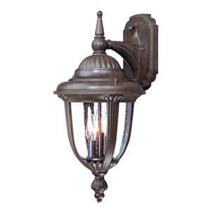 Monterey Burled Walnut Three-Light 20.5-Inch Outdoor Wall Mount