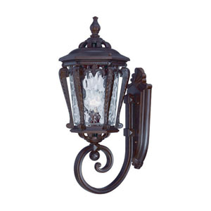 Stratford Architectural Bronze One-Light Outdoor Wall Mount with Clear Hammered Water Glass