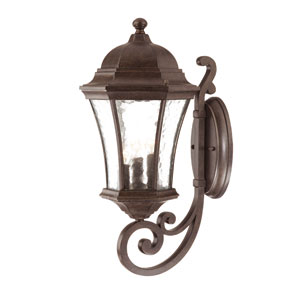 Waverly Black Coral Three-Light 19.5-Inch Outdoor Wall Mount