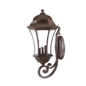 Waverly Black Coral Three-Light 26.75-Inch Outdoor Wall Mount