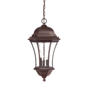 Waverly Black Coral Three-Light 23.5-Inch Outdoor Pendant