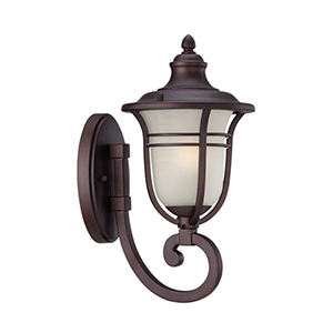 Montclair Architectural Bronze 13.75-Inch One Light Wall Lantern Fixture