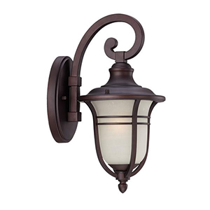 Montclair Architectural Bronze One Light Wall Lantern Fixture
