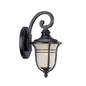 Montclair Matte Black 13.75-Inch One Light Outdoor Wall Lantern Fixture