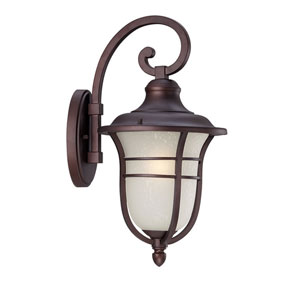 Montclair Architectural Bronze One-Light Outdoor Wall Mount with Frosted Seeded Glass