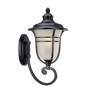 Montclair Matte Black One Light Wall Lantern Fixture