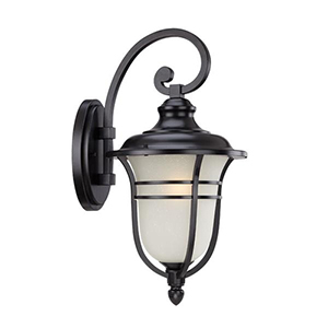 Montclair Matte Black 11-inch One Light Wall Lantern Fixture