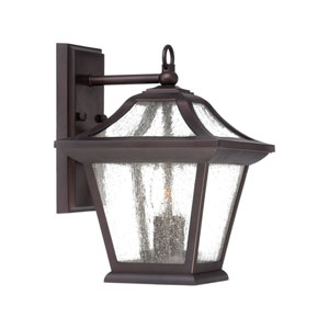 Aiken Architectural Bronze 12-Inch Two-Light Outdoor Wall Mount