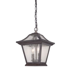 Aiken Black Coral Two-Light Outdoor Pendant