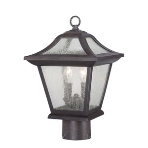 Aiken Black Coral Two-Light Outdoor Post Mount
