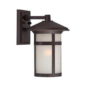Phoenix Architectural Bronze One Light Wall Lantern Fixture