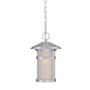 Phoenix Brushed Silver One Light Hanging Lantern Fixture